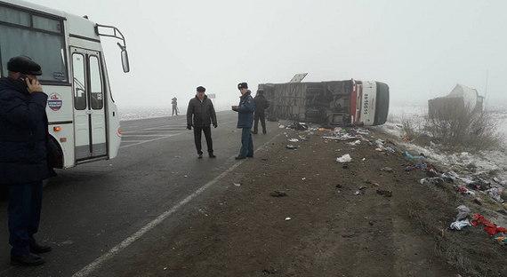 Пострадавшие вДТП пассажиры автобуса «Тюмень— Бишкек» ориентированы вОбластную клинику №4