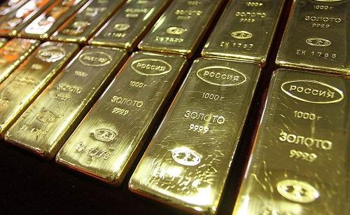 Центробанк замесяц увеличил золотой запас