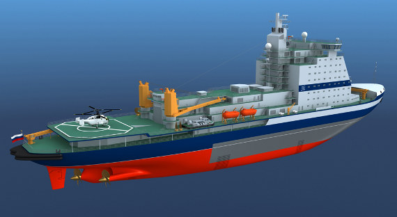 Новый ледокол для «Атомфлота» придёт вМурманск вконце весны 2019