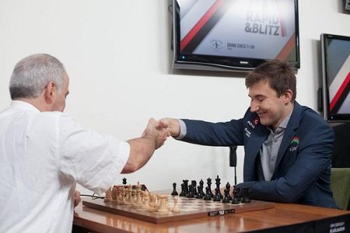Каспаров сыграл вничью сАнандом вСент-Луисе