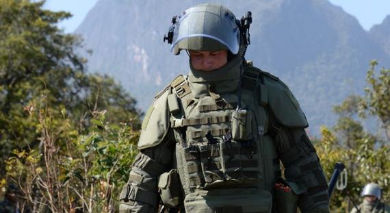 Саперы РФ разминируют мины времен Вьетнамской войны в Лаосе