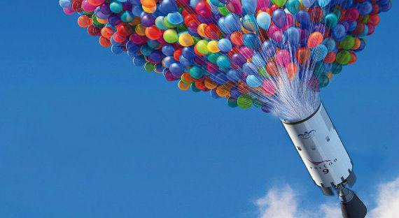 Маск желает  использовать воздушные шарики  для возврата 2-ой  ступени ракеты