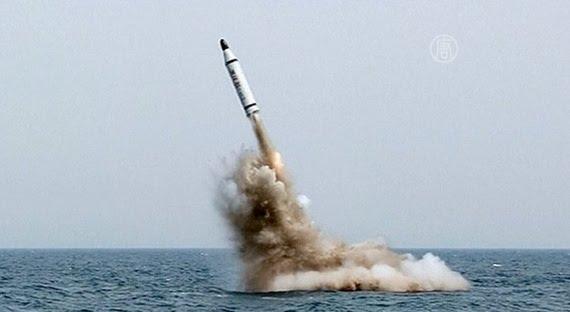 запустили ракету с подводной лодки