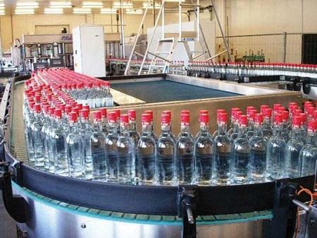 В РФ значительно возросло производство водки