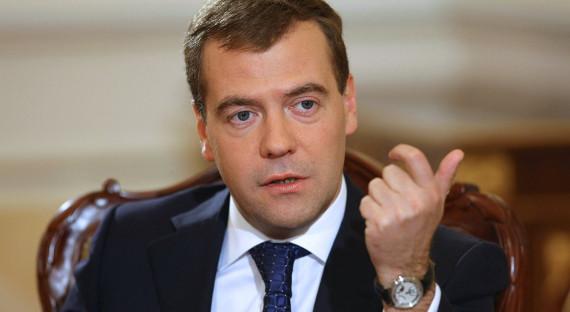 Медведев сказал о вхождении экономики Российской Федерации встадию роста