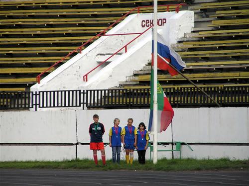 Усть-Абаканские спортсмены спускают флаг соревнований