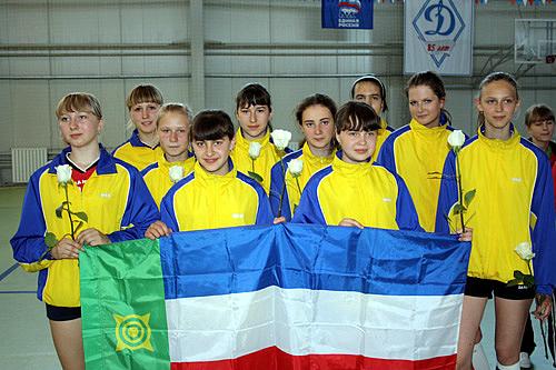 Волейболистки сборной Хакасии. Фото: Николай Денисов