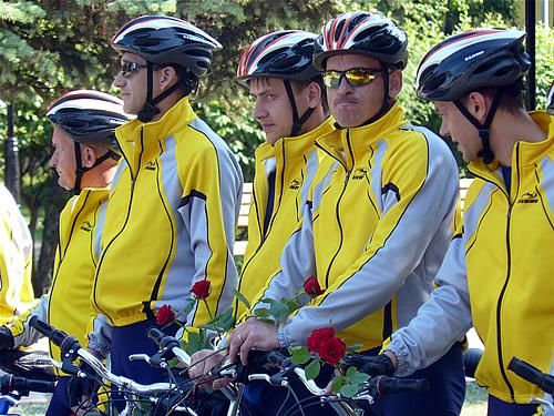 Участники велопробега Хакасия-Кузбасс