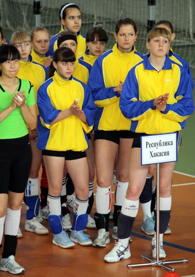 Волейболистки сборной Хакасии