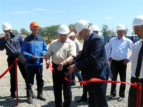 Виктор Зимин на официальном открытии дробильно-сортировочного комплекса