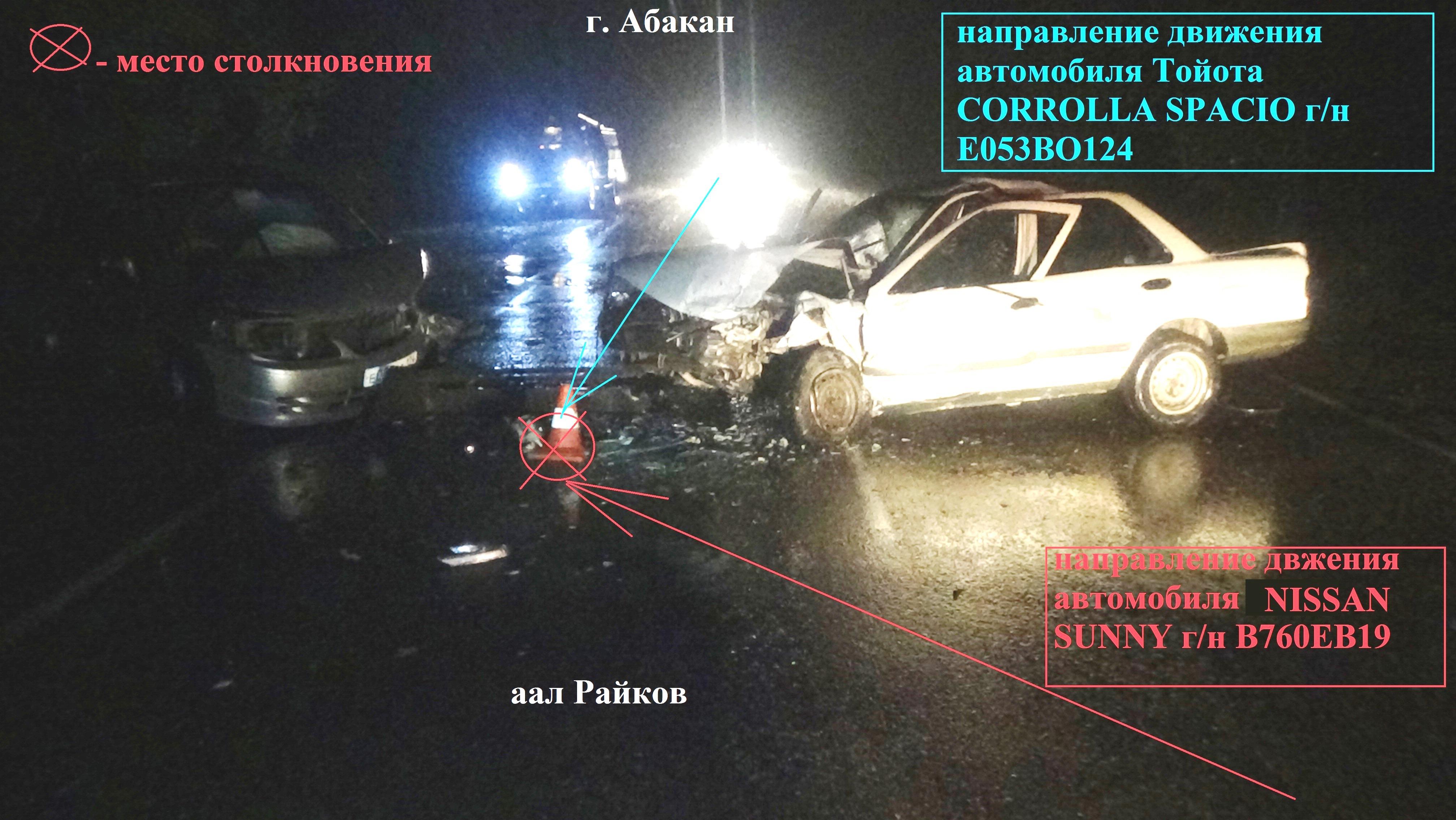 В Хакасии из-за выезда на «встречку» пострадали три человека (ФОТО)
